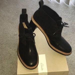 Clarks Trace Glow Black Combi Heels